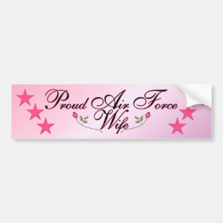 Pink Proud Air Force Wife Bumper Sticker