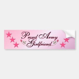 Pink & Proud Army Girlfriend Bumper Stickers
