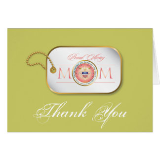 Pink Proud Army Mom Card
