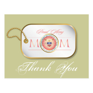 Pink Proud Army Mom Postcard