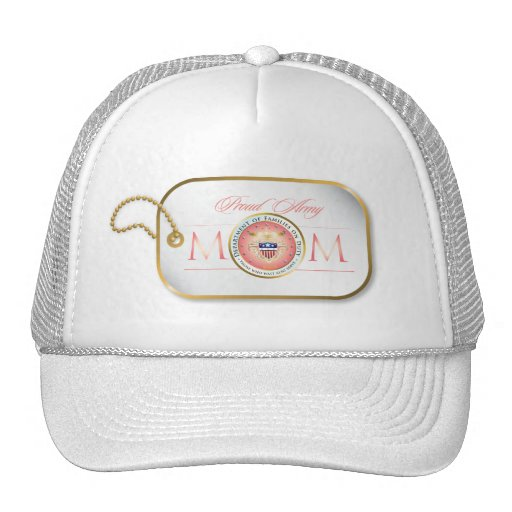 Pink Proud Army Mom Trucker Hat