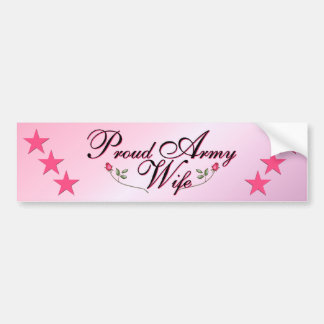 Pink & Proud Army Wife Bumper Sticker