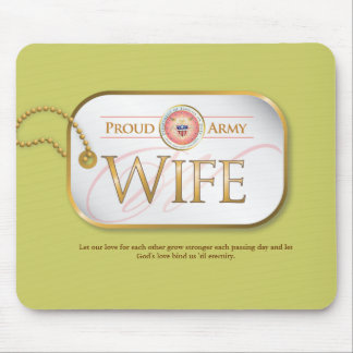 Pink Proud Army Wife Mouse Pad