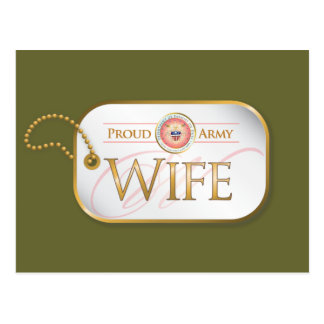 Pink Proud Army Wife Postcard