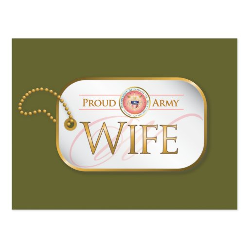 Pink Proud Army Wife Post Card