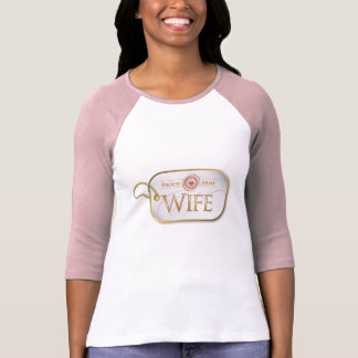 Pink Proud Army Wife Tee Shirts