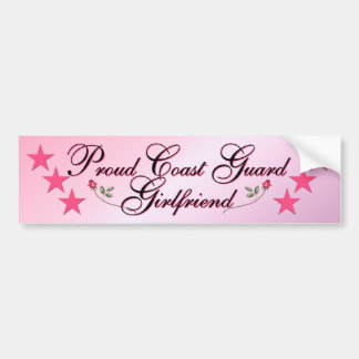 Pink Proud Coast Guard Girlfriend Bumper Stickers