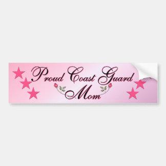 Pink & Proud Coast Guard Mom Bumper Sticker