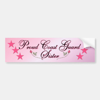 Pink Proud Coast Guard Sister Bumper Sticker