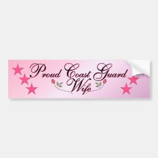 Pink Proud Coast Guard Wife Bumper Sticker