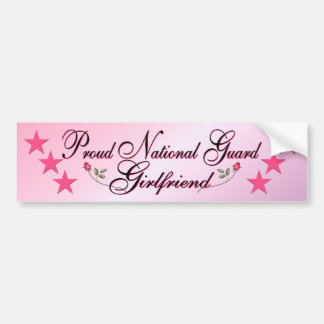 Pink & Proud National Guard Girlfriend Bumper Stic Bumper Sticker