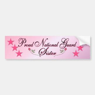 Pink Proud National Guard Sister Bumper Sticker