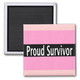 Pink Proud Survivor Merchandise Magnet