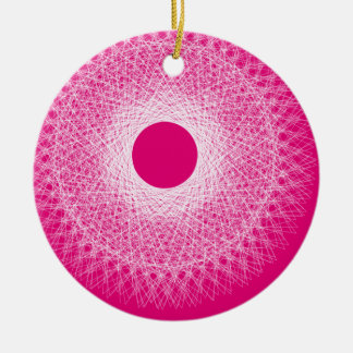 pink  psyche abstract art ceramic ornament