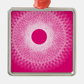 pink  psyche abstract art metal ornament