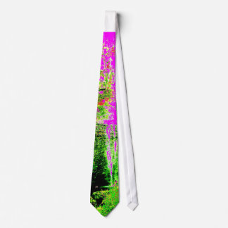 Pink Psychedelic Maui Waterfall Mens Necktie