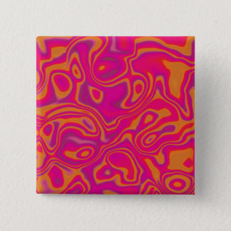 Pink Psychedelic Oil Pattern Button