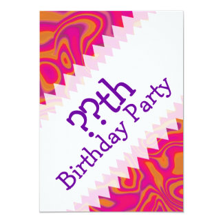 Pink Psychedelic Oil Pattern Card