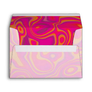 Pink Psychedelic Oil Pattern Envelope