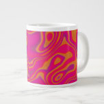 Pink Psychedelic Oil Pattern Extra Large Mug