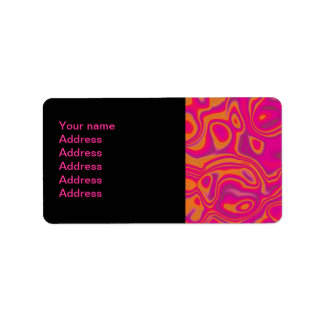 Pink Psychedelic Oil Pattern Label