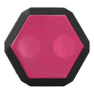 Pink Pucker-Hot Shocking Pink-Uptown Girl-Designer Black Bluetooth Speaker
