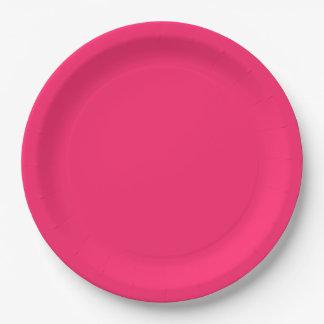 Pink Pucker-Hot Shocking Pink-Uptown Girl-Designer Paper Plate