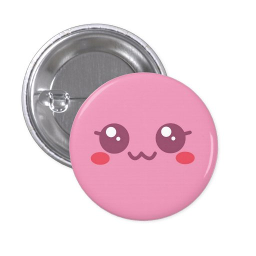 Pink Puff Face Button Vers 2