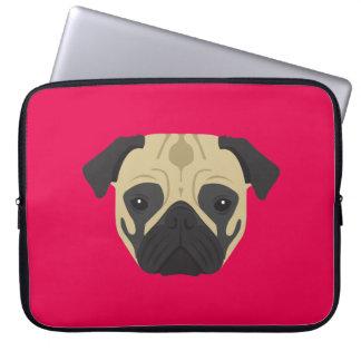 Pink Pug Computer Sleeve