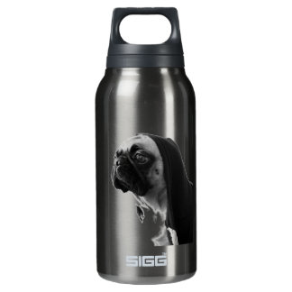 Pink Pug Insulated Water Bottle