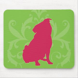 Pink Pug Mouse Pad