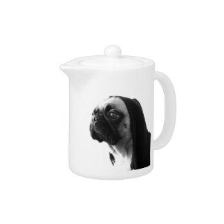 Pink Pug Teapot