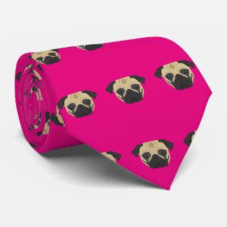 Pink Pug Tie