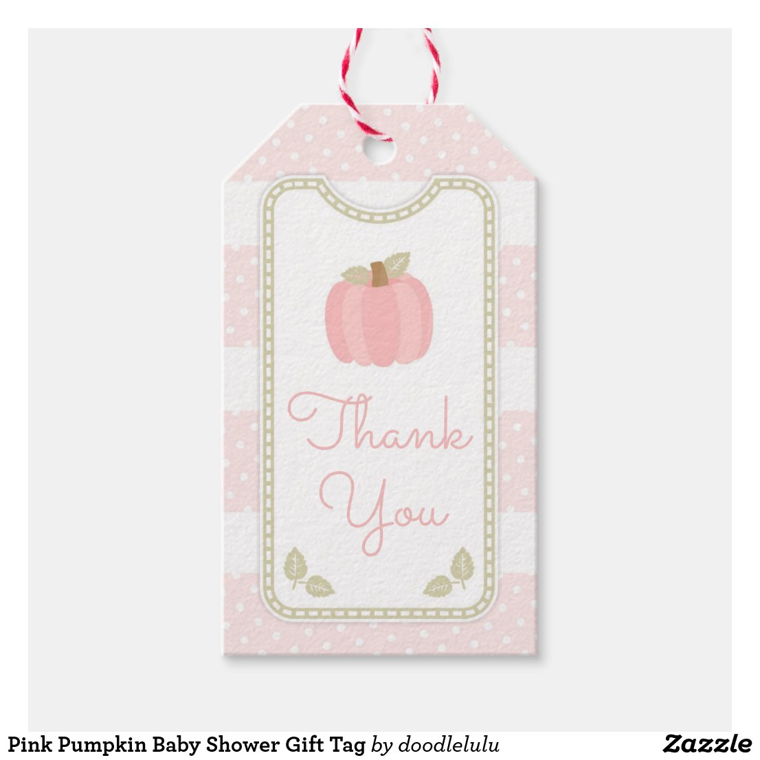 Pink Pumpkin Baby Shower Gift Tag