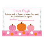 Pink Pumpkin Diaper Raffle Tickets Large Business Cards (Pack Of 100)