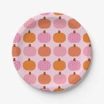 Pink Pumpkin Paper Plates