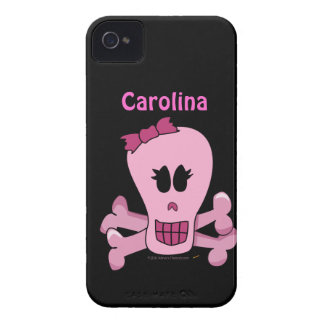 Pink Punk Girly Skull with Bow Custom Case iPhone 4 Cases