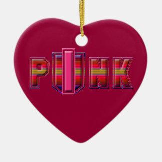 PINK PUNK Ornamink 3 Ceramic Ornament