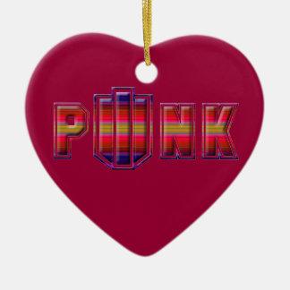 PINK PUNK Ornamink 4 Ceramic Ornament