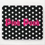 Pink Punk Polka Dot Mousepad
