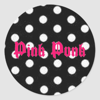 Pink Punk Polka Dot Sticker