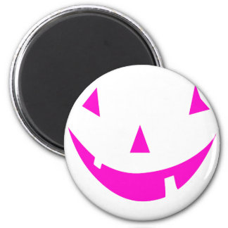 Pink Punkin Face 2 Inch Round Magnet