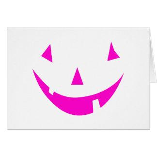 Pink Punkin Face Greeting Card