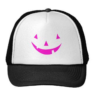 Pink Punkin Face Mesh Hat