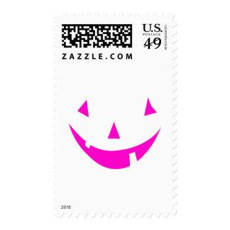 Pink Punkin Face Postage Stamp
