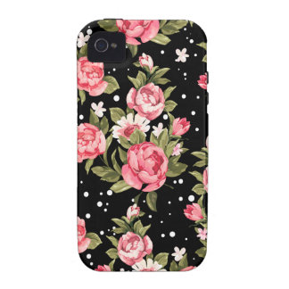 Pink Puny Peonies Case-Mate iPhone 4 Cases