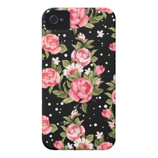 Pink Puny Peonies iPhone 4 Case-Mate Case