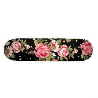 Pink Puny Peonies Skateboard Deck