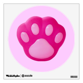 Pink Puppy Paw Wall Decal