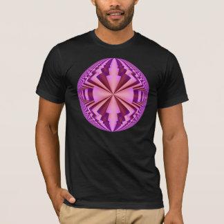 pink purpel fractal disco ball T-Shirt